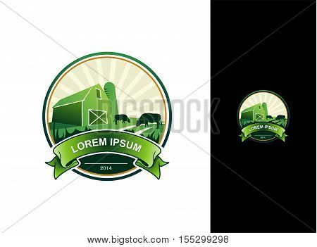 Abstract Farm Land Vector Business Identity Logo