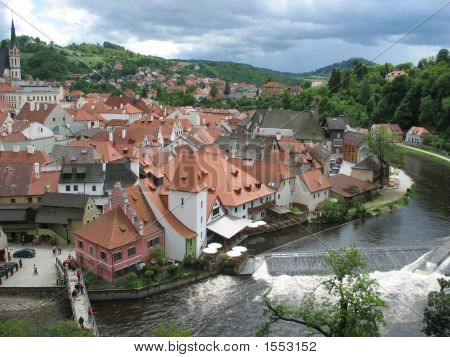 City View Of Cesky Krumolv Czech Republic