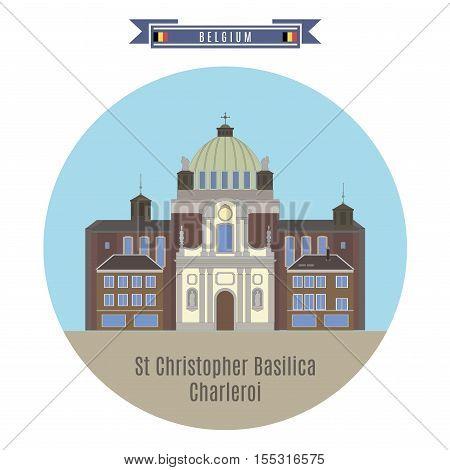 St.christopher Basilica, Charleroi, Belgium