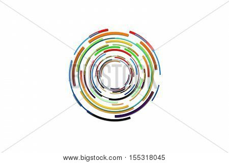 Hi-tech background design. Abstract technology background. Circle technology of power concept. Abstract future digital science technology concept. Abstract circle isolated.