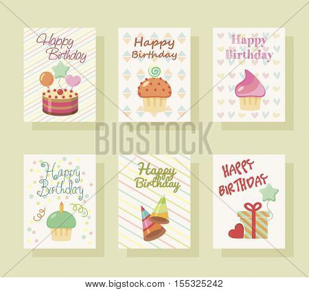 Baby invitation card. Baby Greeting postcard. Happy birthday background. Design template. Poster