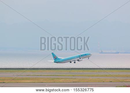 Korean Air In Chubu Centrair International Airport Japan