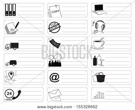 Travel shopping Icon symbolmarket sale item business industry sticker item print for short note and clipping paths.