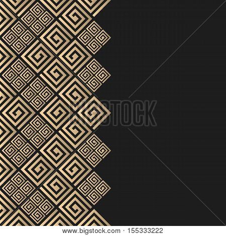 Vector geometric background greek style. Meander vector border for design. Premium vector frame in luxury style.