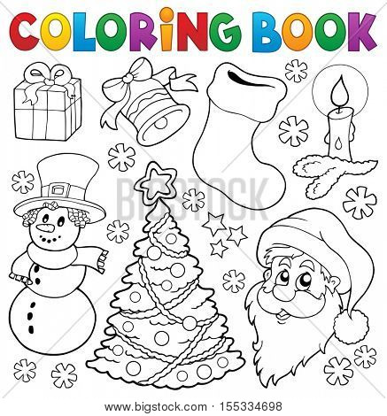Coloring book Christmas thematics 5 - eps10 vector illustration.