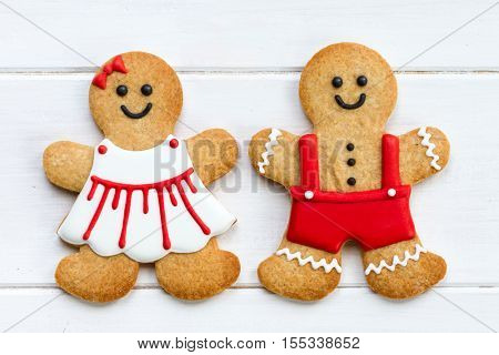 Gingerbread couple for Valentines Day
