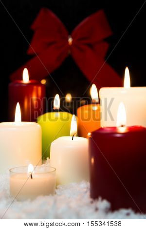 Festive Christmas Decoration With Lot Of Candles