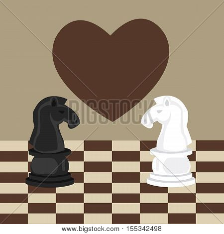 forbidden taboo no romance two horse chess fall in love vector