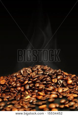 Roasting coffeee beans. poster