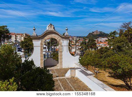 Castle in Leiria - Portugal - architecture background