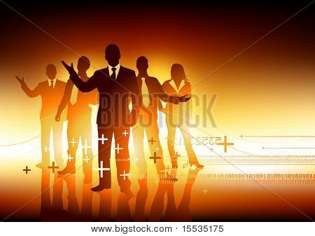 A group of professional business people. Vector illustration.
