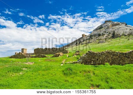 Inside an ancient Genoese fortress in Sudak Crimea Ukraine