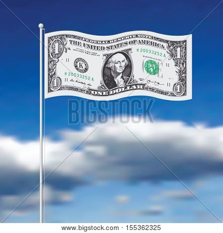 vector illustration of the dollar flag, finance background