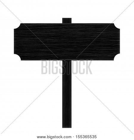 Wooden sign isolated on white background .