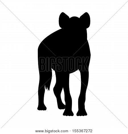 Hyena vector illustration black silhouette profile side