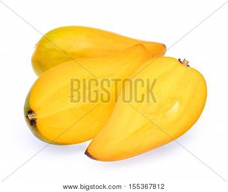 Egg fruit Canistel Yellow Sapote (Pouteria campechiana (Kunth) Baehni) isolated on white