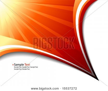 vector sun rays abstract template