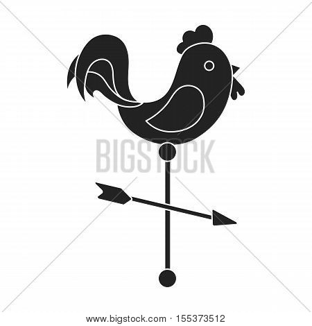 Weather vane icon in black style isolated on white background. Weather symbol vector illustration.