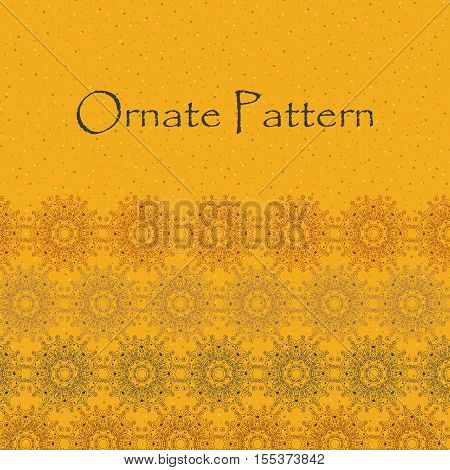 Ornate pattern with guilloche. Abstract ornate design. Vector illustration