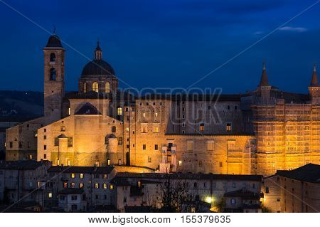 Ancient castle of the Duke of Urbino, Italy