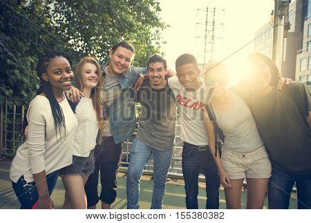 Diversity Friend Teenage Concept