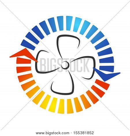 Air conditioning fan is silhouette vector design