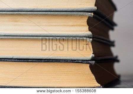 Stack Of Old And Used Books
