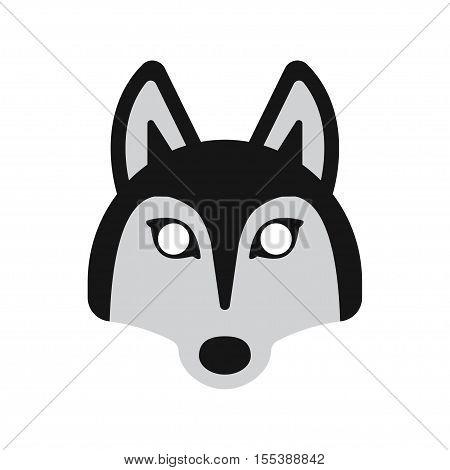 face mask animal dog husky on a white background