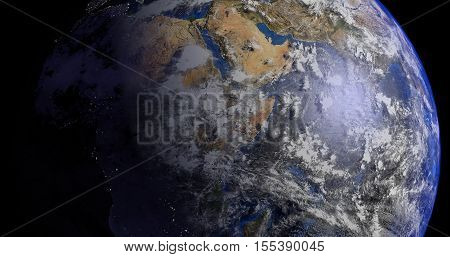 Earth world is a science fiction fantasy twist