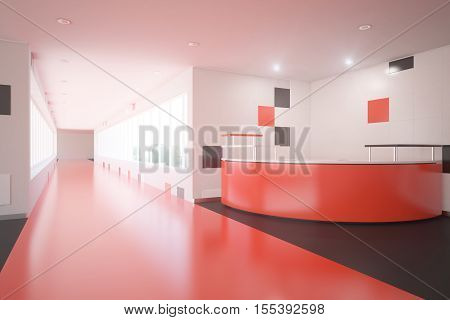 Red Office Lobby