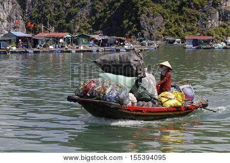 Cat Ba, Vietnam, October 27, 2016 : Traditonal Transport In Cat Ba Archipelago, The Southeastern Edg