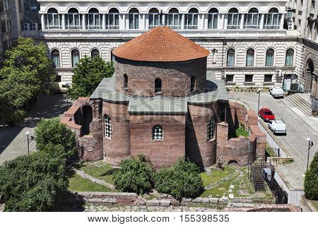 St. George Rotunda in Sofia, Bulgaria. It was built in the 4th century by the Romans and nowadays is a museum protected by UNESCO and the oldest Eastern European Orthodox church.