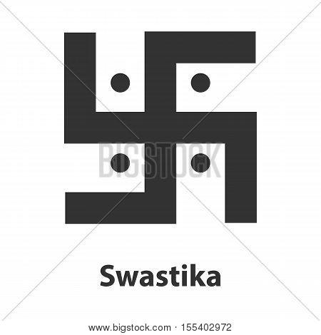 Icon of Swastika symbol. Hinduism religion sign