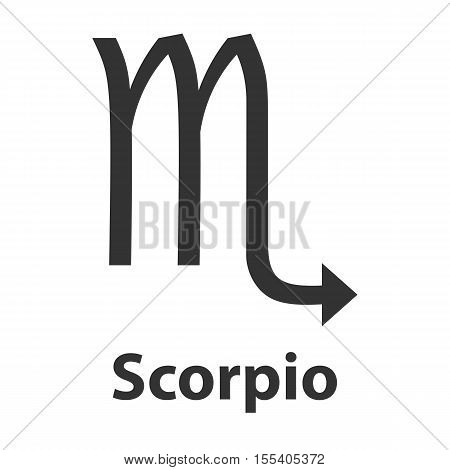 Scorpius, scorpion zodiac sign. Vector Illustration, icon