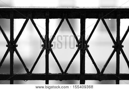 Black and white balcony fence background hd