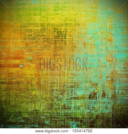 Old style design, textured grunge background with different color patterns: yellow (beige); brown; gray; green; blue; red (orange)