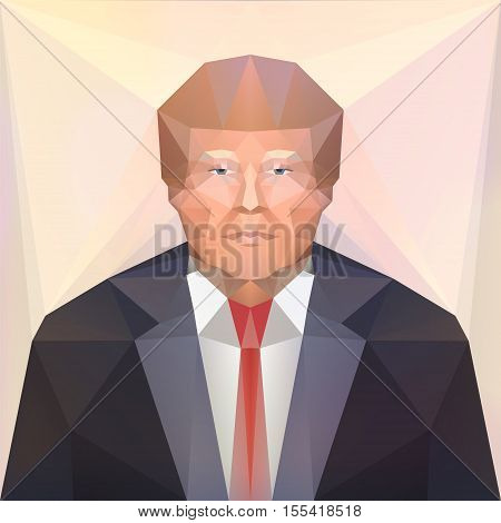 7 nov 2016. USA presidential candidate Donald Trump. Vector. Editorial
