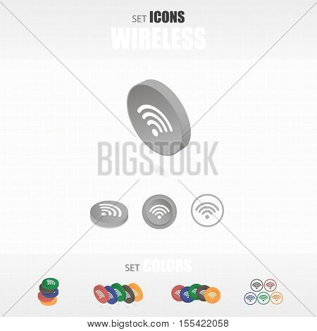 Set Of Icons Wireless.