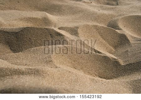 Sand Texture closeup, summer micro dunes background