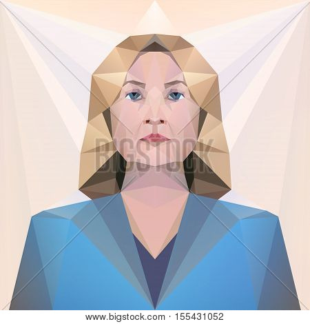 7 nov 2016. USA presidential candidate Hillary Clinton. Vector. Editorial