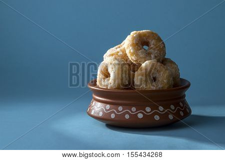 Indian Traditional Sweet Food Balushahi in Clay Pot poster