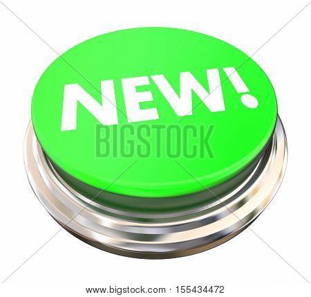 New Green Button Latest Update 3d Illustration