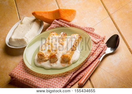 cannelloni pumpkin and cheese