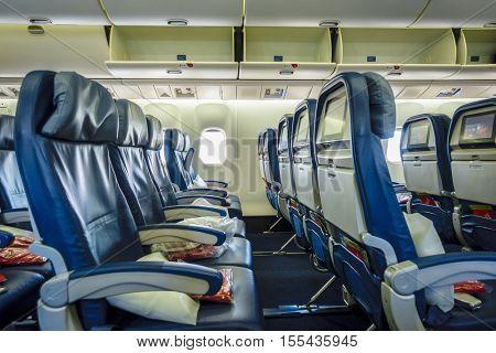 Passenger airplane cabin