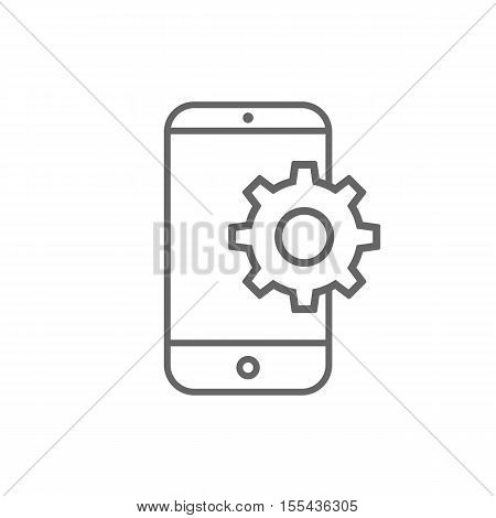 Setting parameters, mobile smartphone icon, vector illustration. Flat design style