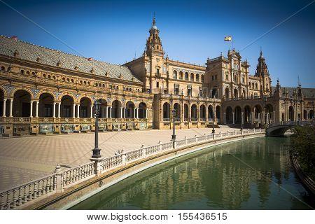 Plaza de Espana a masterpiece of architecture in Seville