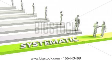 Systematic Mindset for a Successful Business Concept 3d Illustration Render