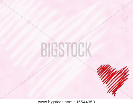 Heart on gently pink background