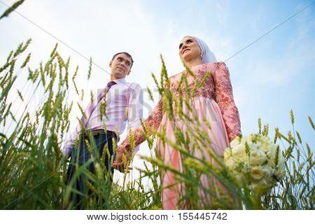 National Wedding. Bride And Groom