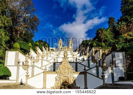 Double stairway of the Bom Jesus do Monte in Braga,